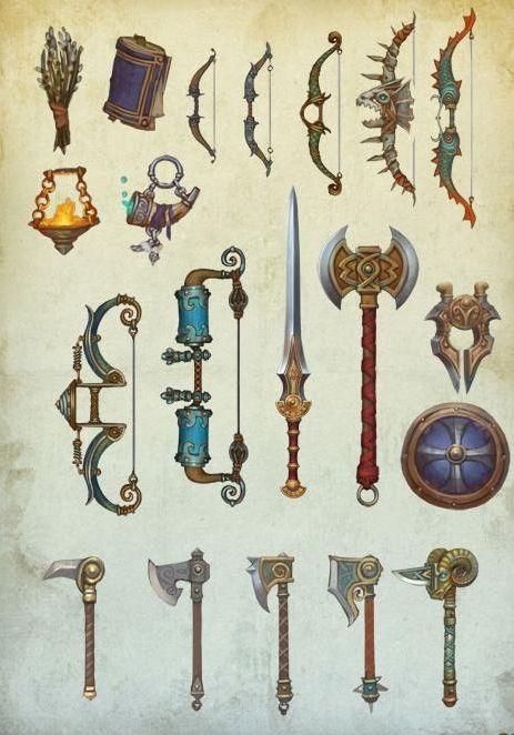 Оружие, артефакты, предметы быта