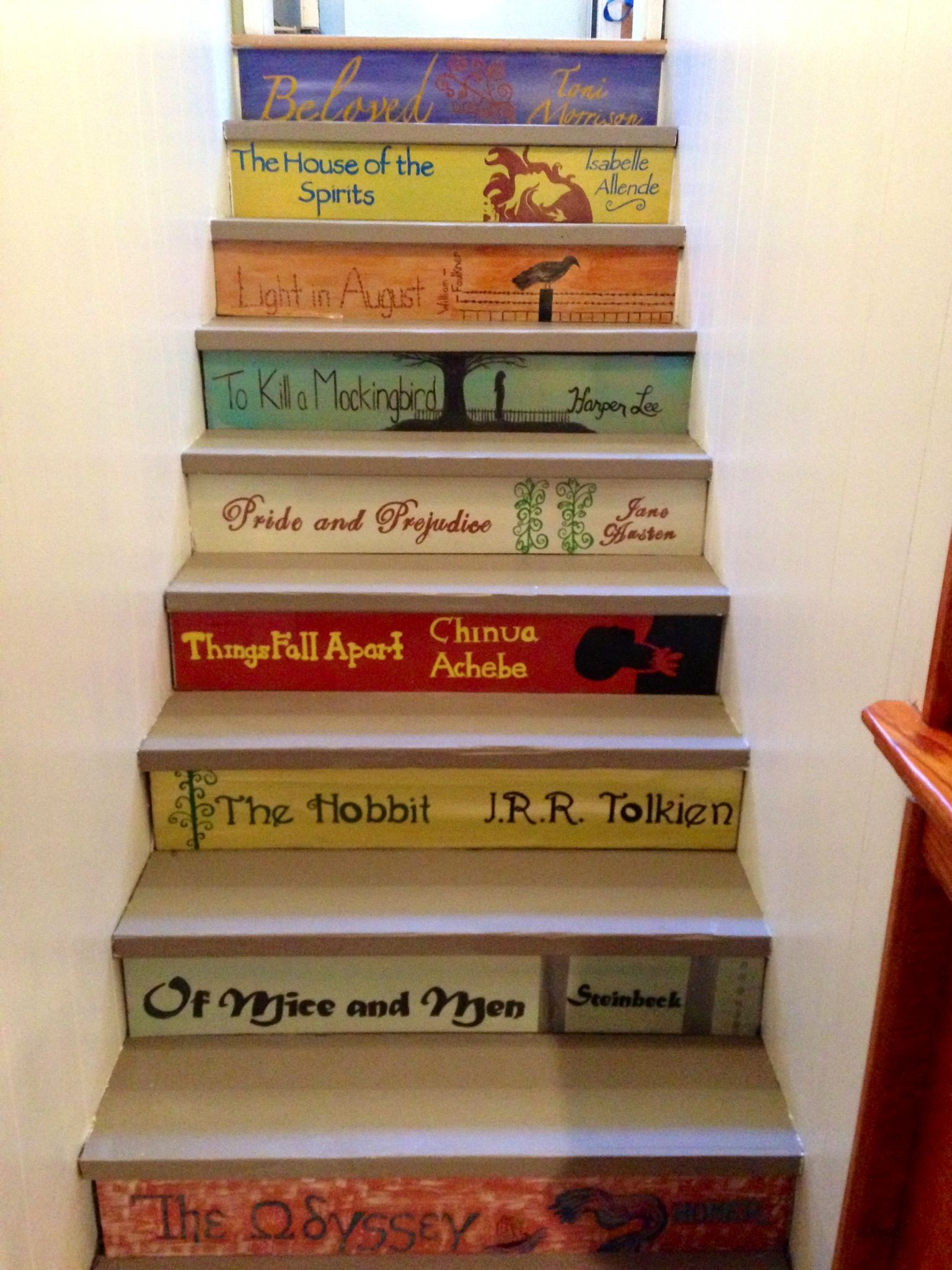 Staircase Painted Like Kids Books