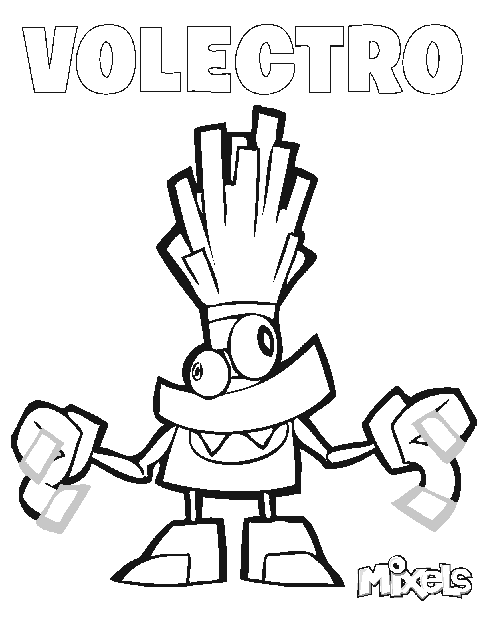 Mixels Coloring Page Volectro Lego Birthday Party Lego Movie Party Super Coloring Pages