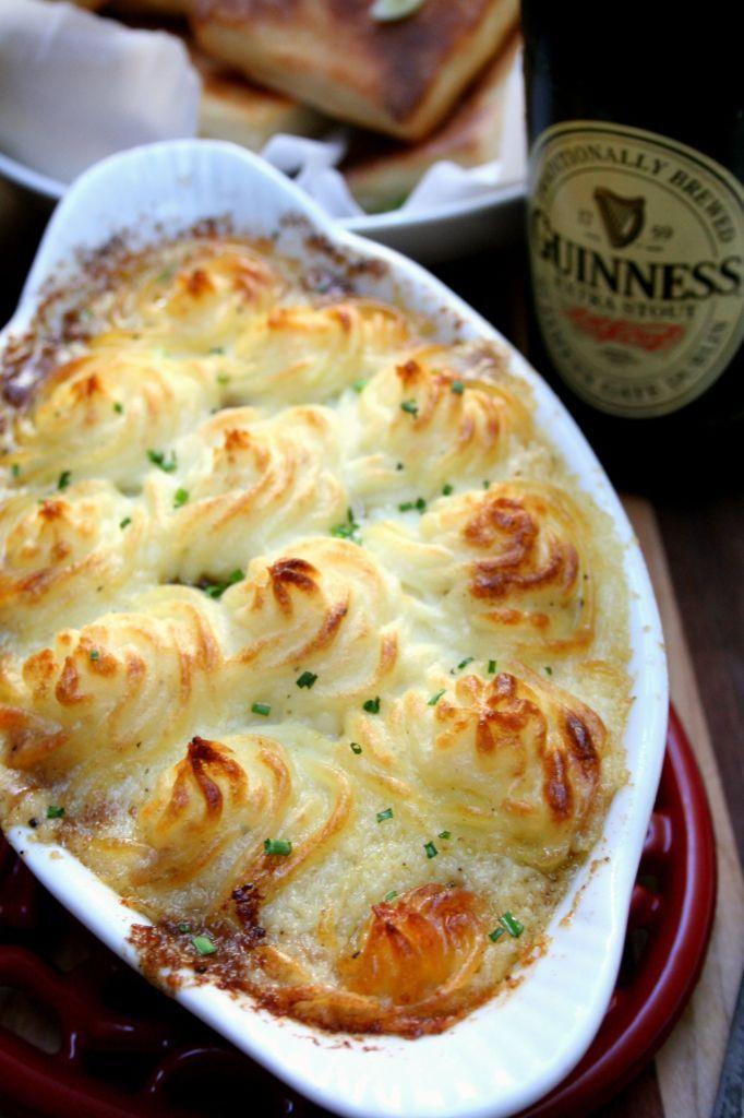 Braised Short Rib Shepherd's Pie with Guinness Gravy