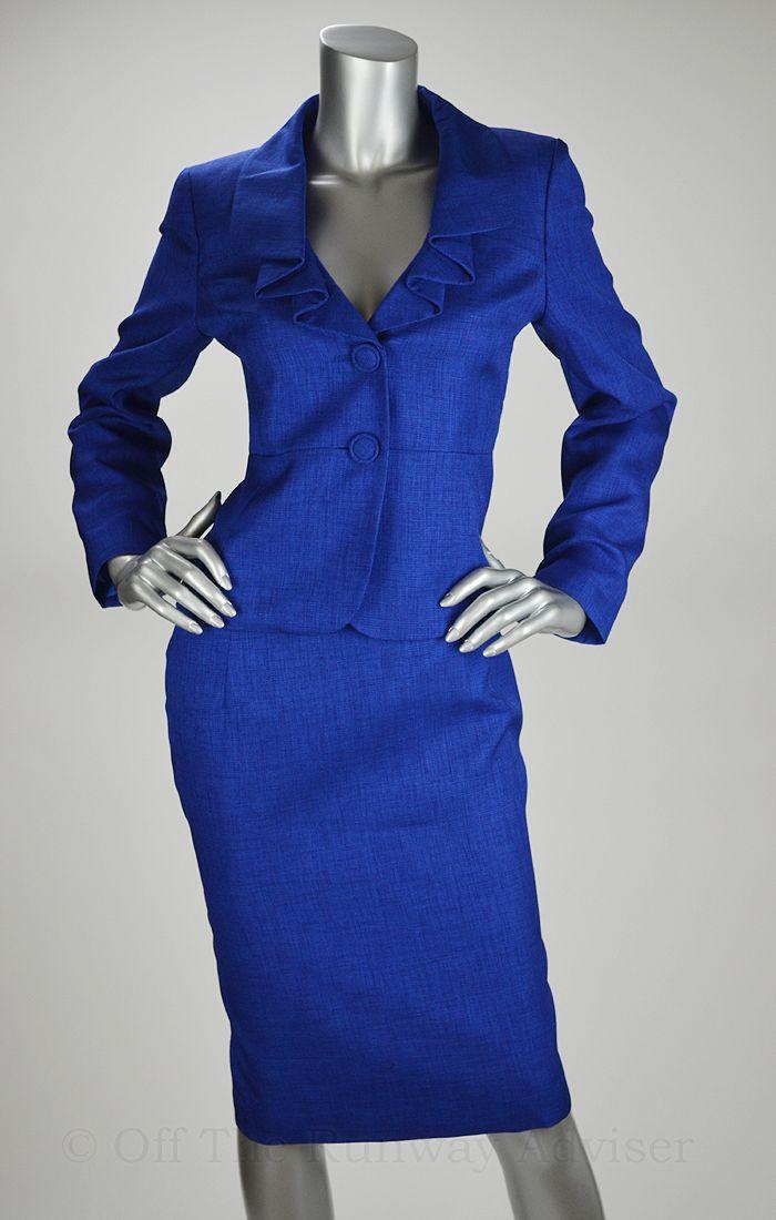Women Royal Blue Suit 200 Le Suit Blue Print Royal Blue