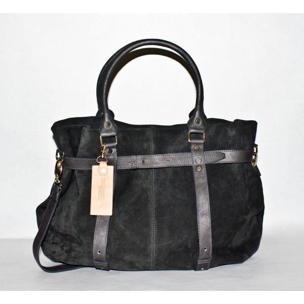 Missy Balloon black suede leather shopper | TSM The Swedish Model