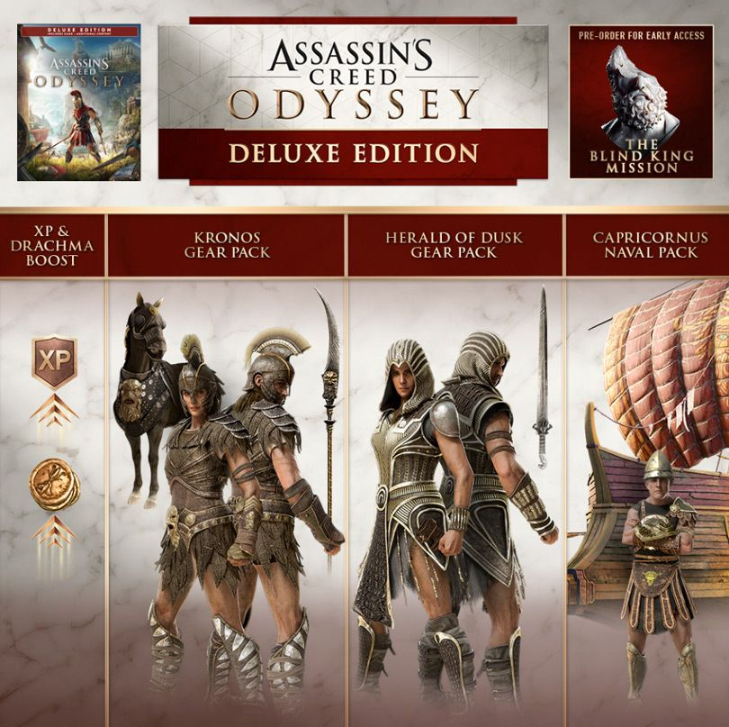 Ac Odyssey Editions And Season Pass Contents Assassins Creed Odyssey Assassins Creed Assasing Creed
