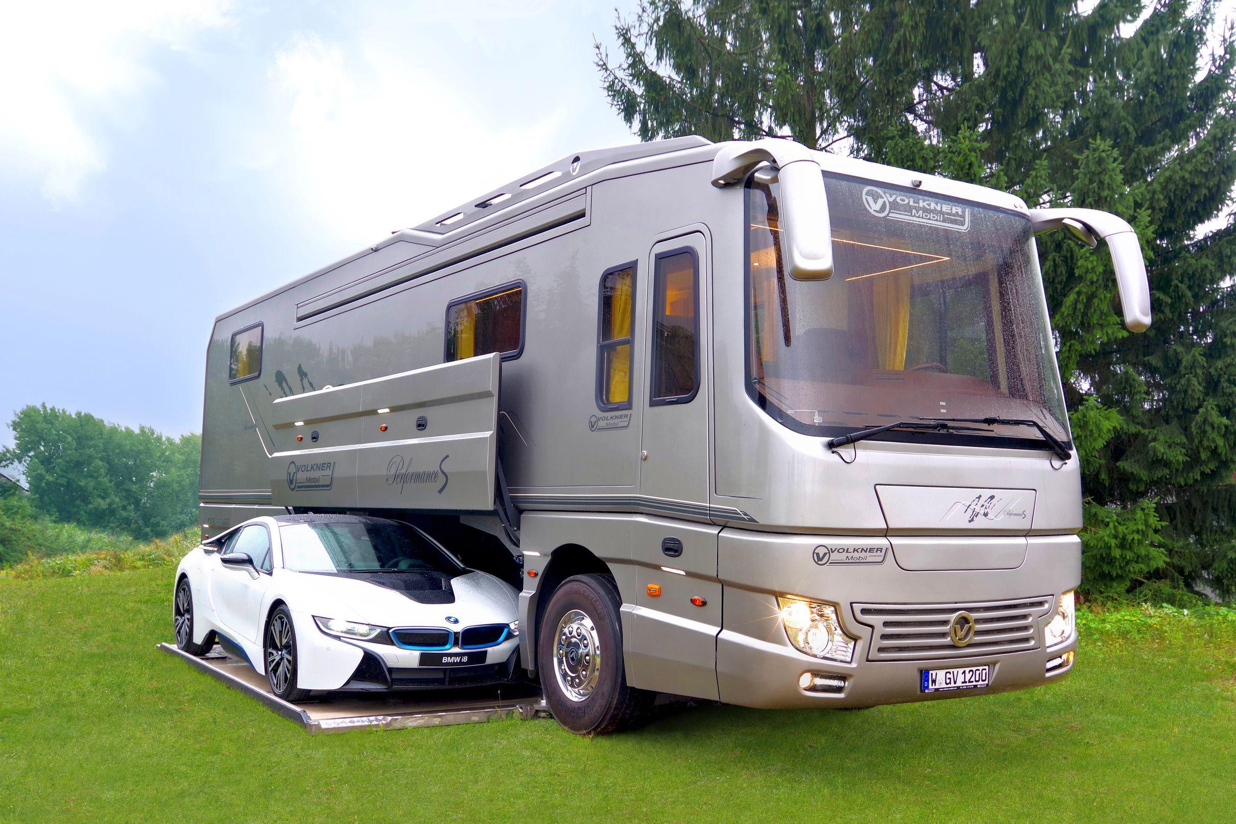 Bespoke Rv Hides Sports Car In Mobile Garage Recreational