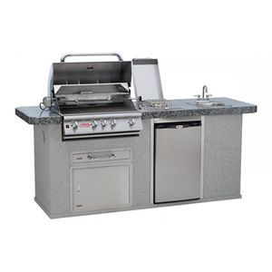 Bull Outdoor Kitchen Grilling Island W Built In Grill Outdoor Kitchen Grill Outdoor Kitchen Countertops Kitchen Grill