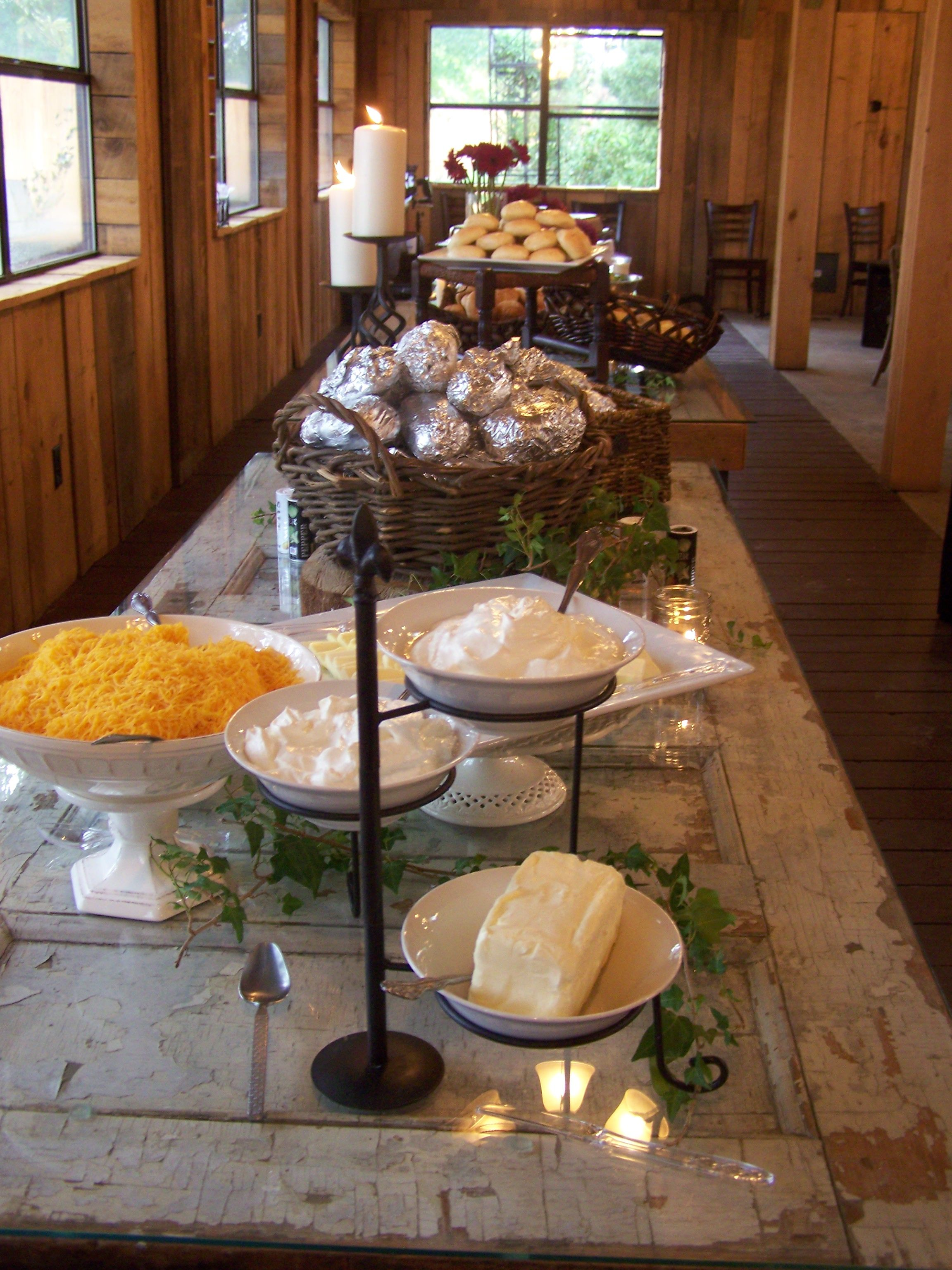 Love This Potato Bar Idea Also Like Room Need One For My Large Family