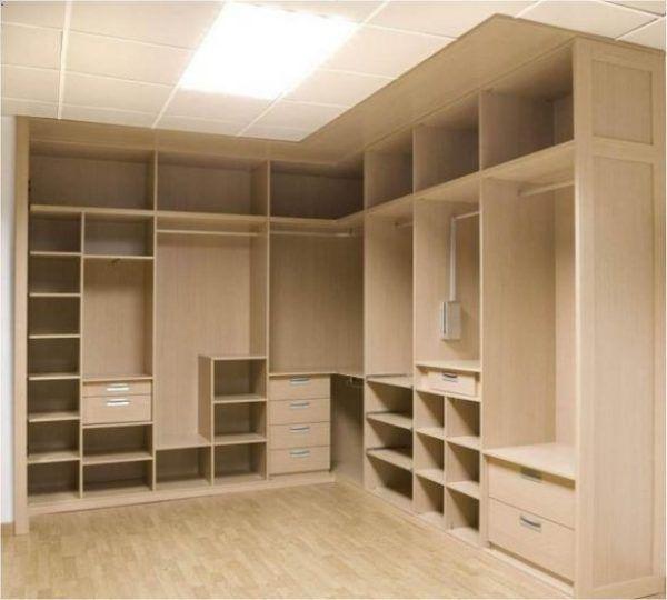 De 100 fotos vestidores modernos y peque os armario - Como construir un armario de madera ...