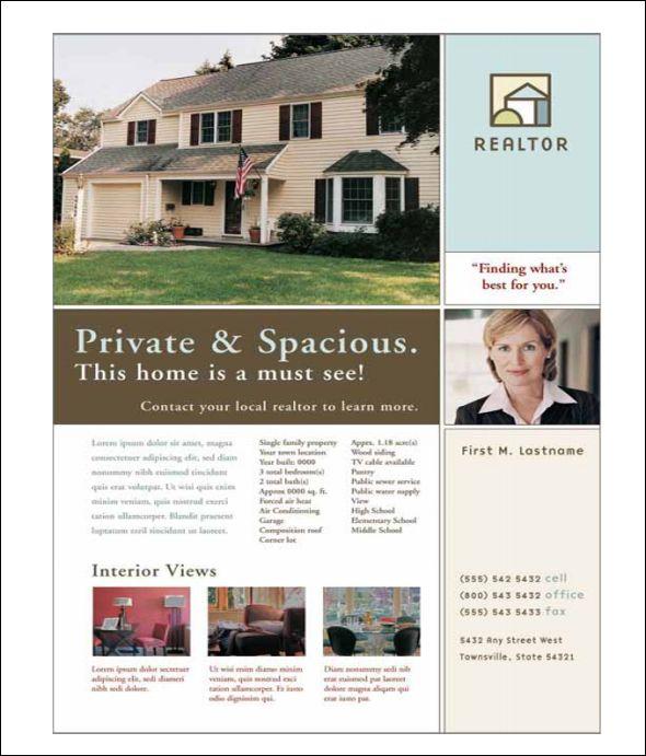 22 Best Real Estate Flyer Templates Real Estate Flyers Flyer