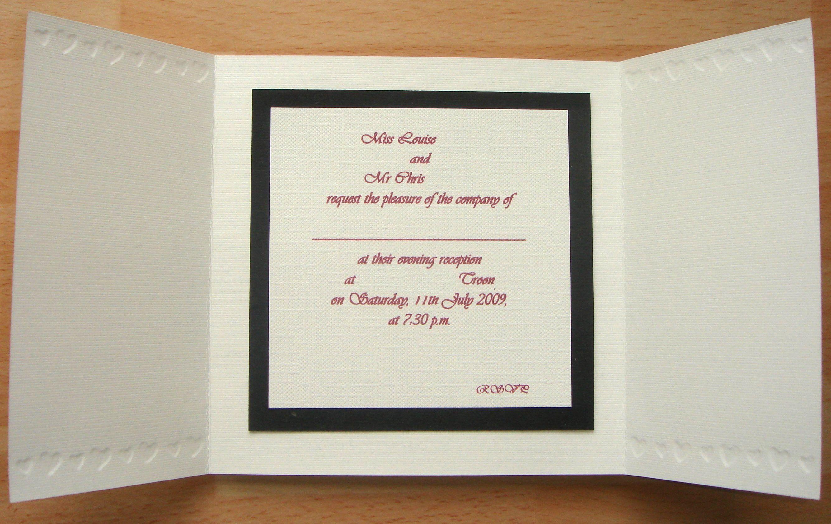 Wedding Invitation - Inside - Scrapbook.com | Tarjetas variadas ...