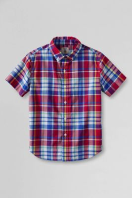473a4f96cb3a Boys  Short Sleeve Camp Shirt from Lands  End