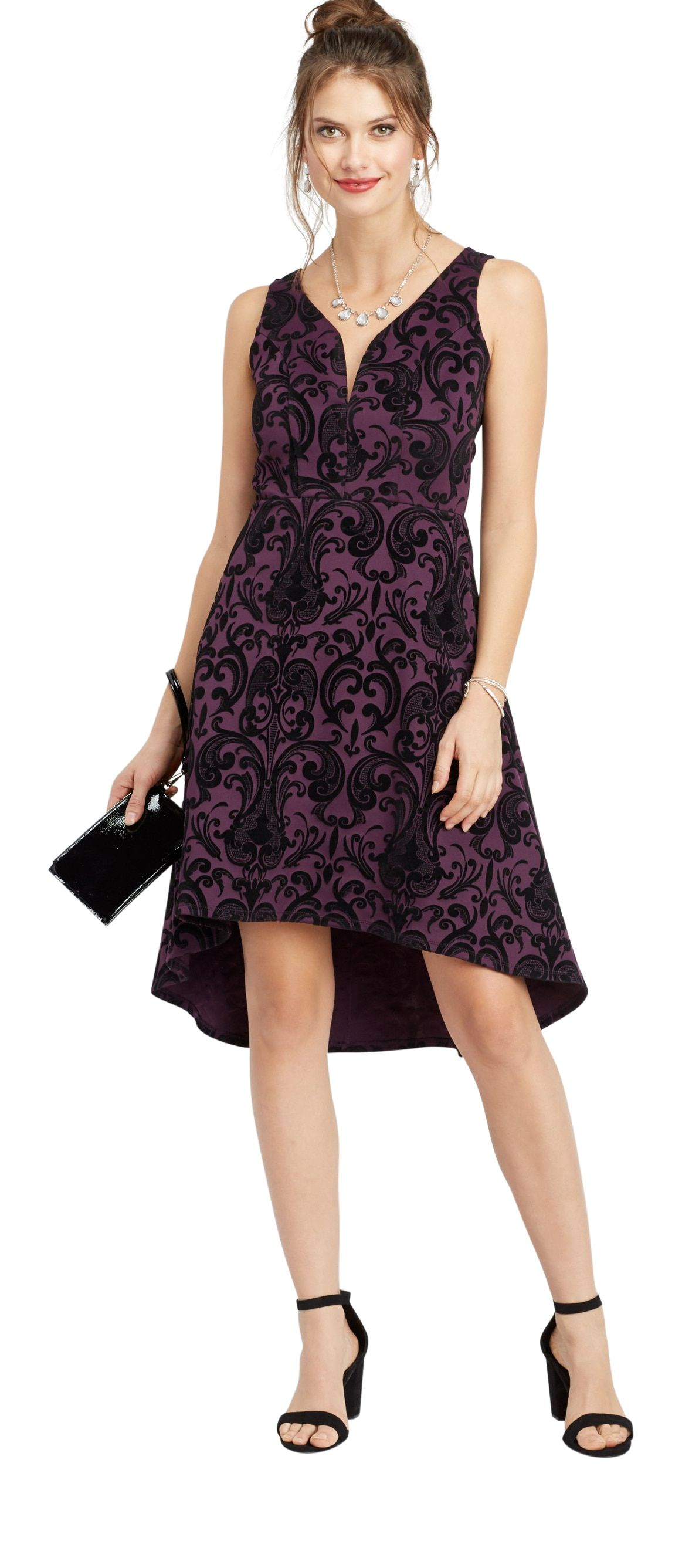 Maurices Floral Flecked High Low Dress Walmart Com Dresses High Low Dress Trendy Dresses [ 2673 x 1163 Pixel ]