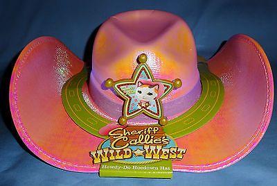 Disney Xerife Callies Cowgirl Traje Vestido Chapéu 4-6X; Rosa; Brinquedo De Pelúcia Gato; Novo Lote