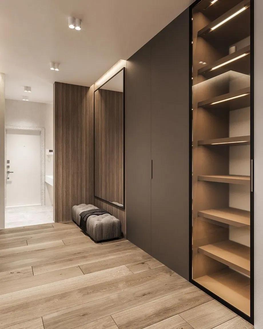 дизайн коридора с гардеробной в квартире фото бедствия