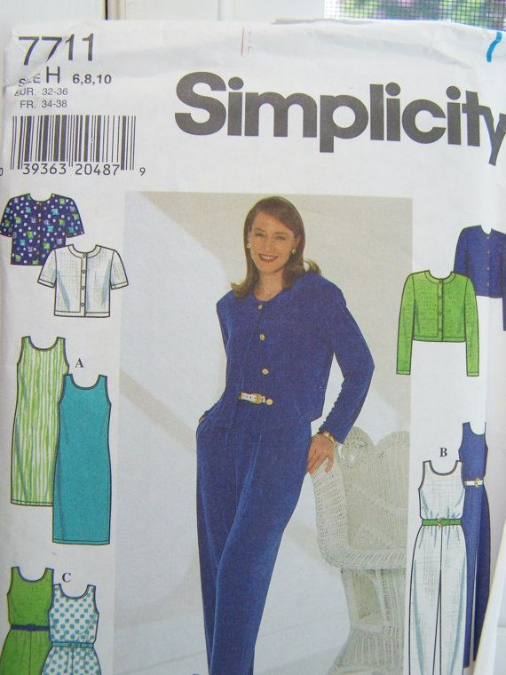 UNCUT Simplicity 7711 Craft Pattern Vintage
