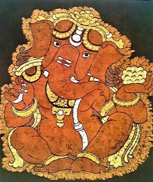 Baatik painting - ganesha