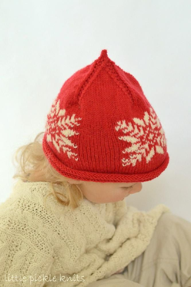 Baby Beanie \' Snowflake \' Christmas hat | Pinterest | Knit patterns ...