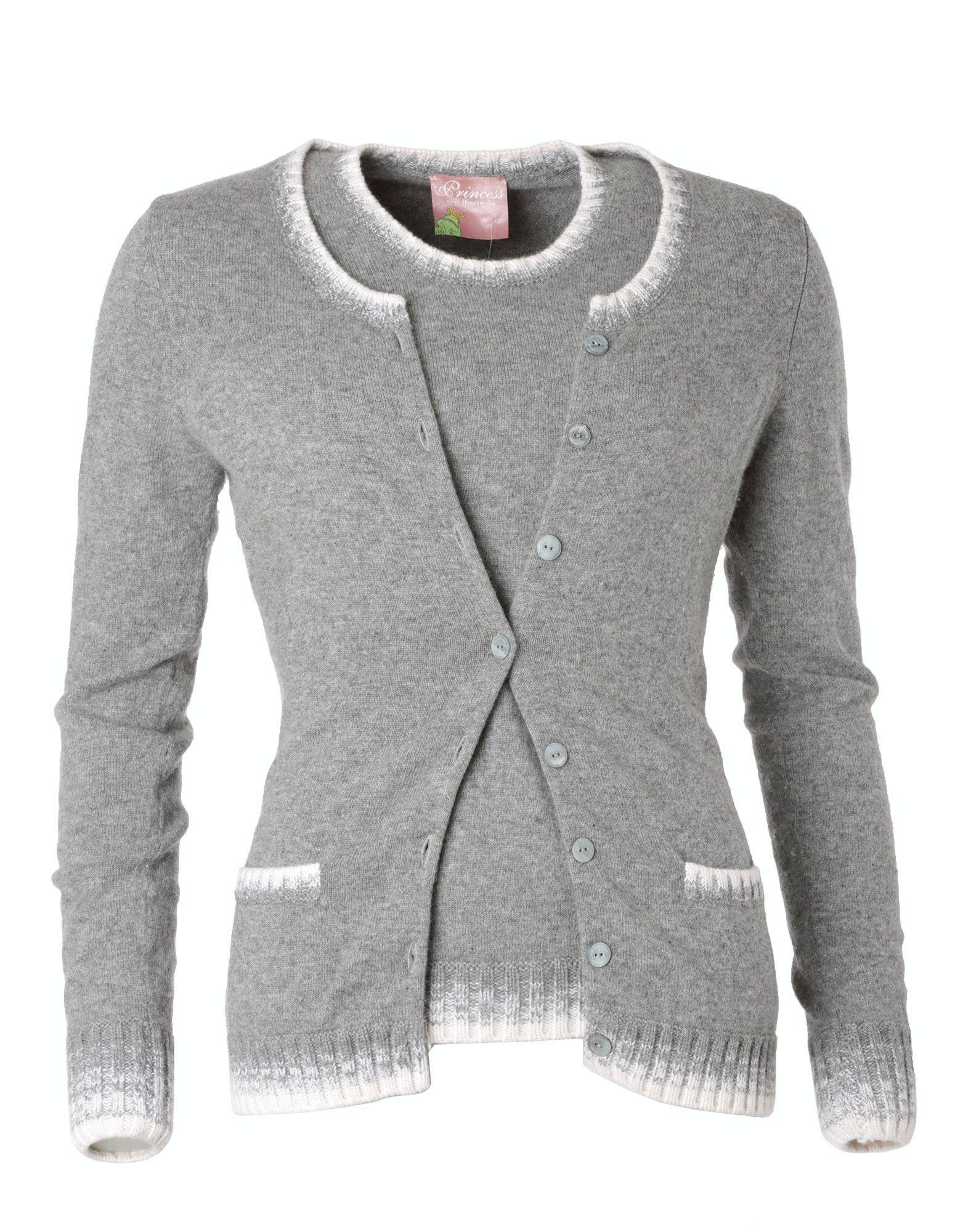 jetzt kaufen Einkaufen großer Lagerverkauf Princess goes Hollywood Cashmere Twinset grau. Gr. 38 ...