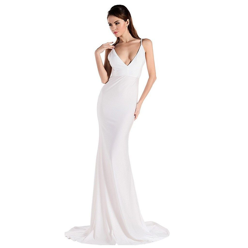 Plain White Evening Gown | Prom | Pinterest | White evening gowns ...