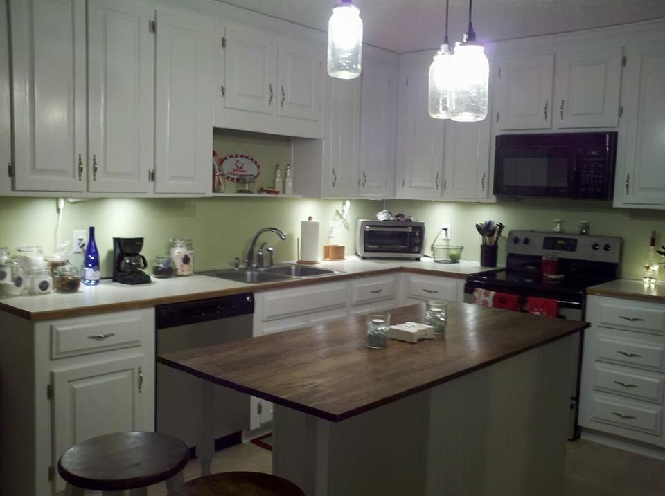 Faux Granite Painted Counters, With Craft Paint!