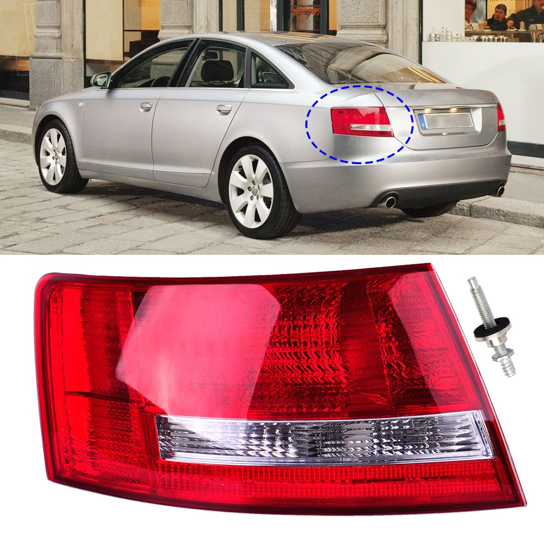 Left Tail Light Assembly Lamp Housing Without Bulb Fit For Audi A6 A6 Quattro Sedan 2005 2006 2007 2008 4f5945095l 4f594509 Audi A6 Audi A6 Quattro Car Lights