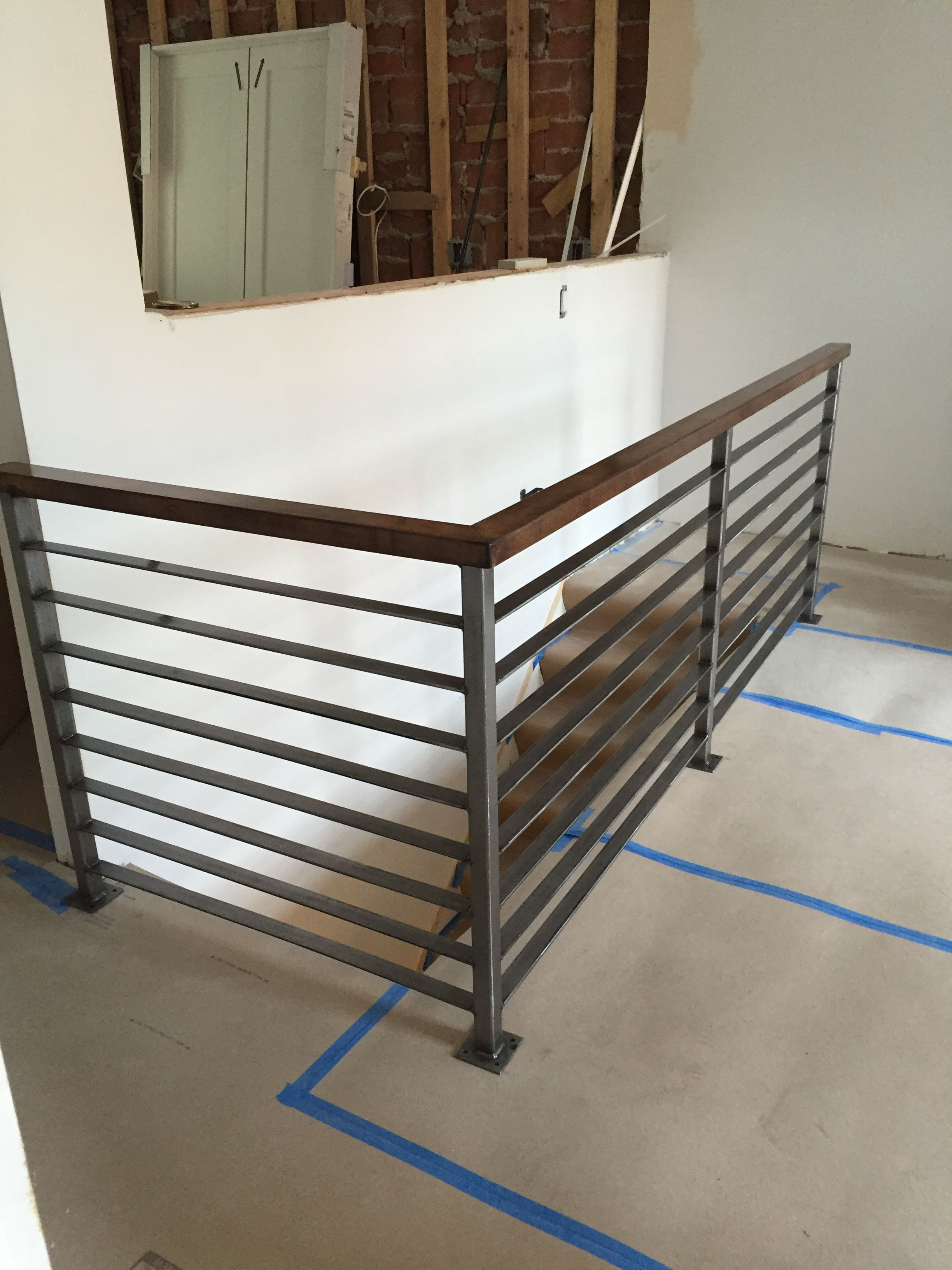 Custom Railing Metal Stair Railing Diy Stair Railing Loft Railing | Diy Metal Stair Railing | Outdoor | Exterior | Beginner | Indoor | Metal Baluster Drywall