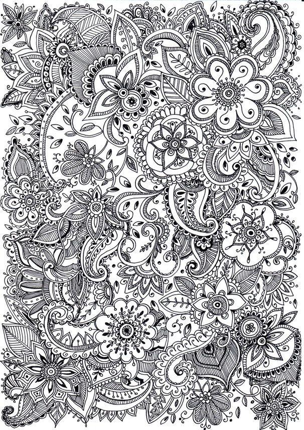 Uzory Mari Veselaya Photographer Abstract Coloring Pages Mandala Coloring Pages Flower Coloring Pages