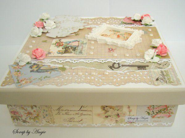 Scrap by Angie - Caixa de mdf - decoração Vintage