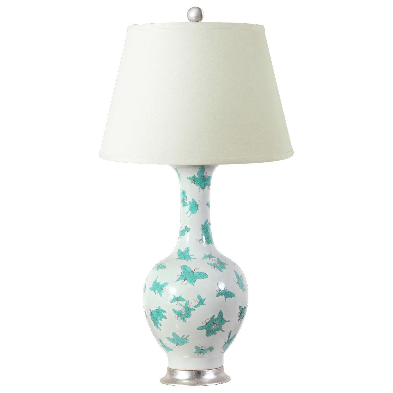 Yellow papillion lamp base by bungalow 5 rosenberryrooms com - Bungalow 5 Papillion Turquoise Table Lamp Base Layla Grayce