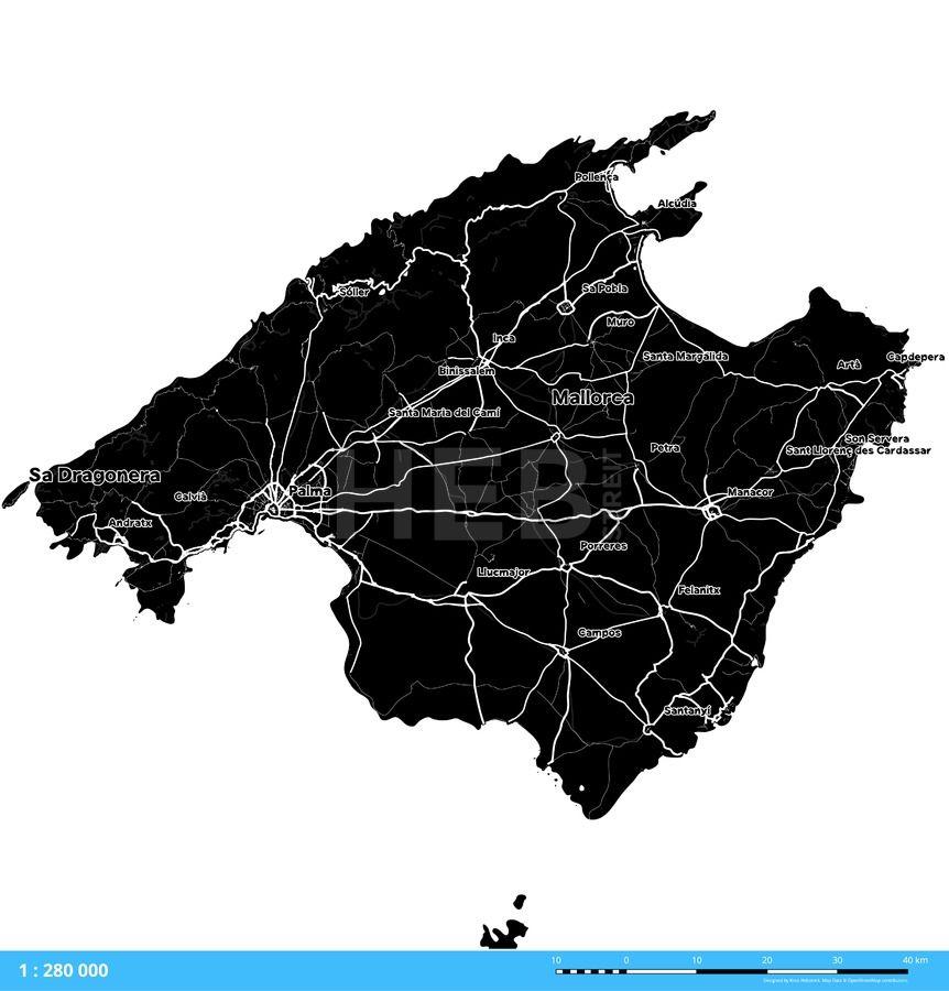 Majorca Spain Vector Map