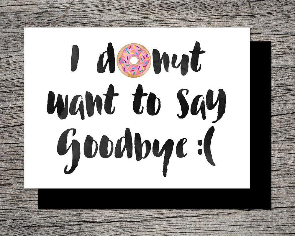 farewell printable card