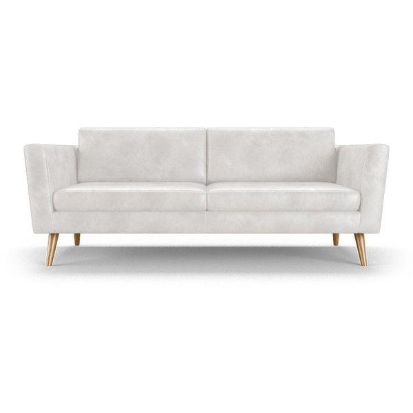 Deluna Mid Century Modern Beige Leather Loveseat Mid Century Leather Sofa Love Seat Leather Loveseat