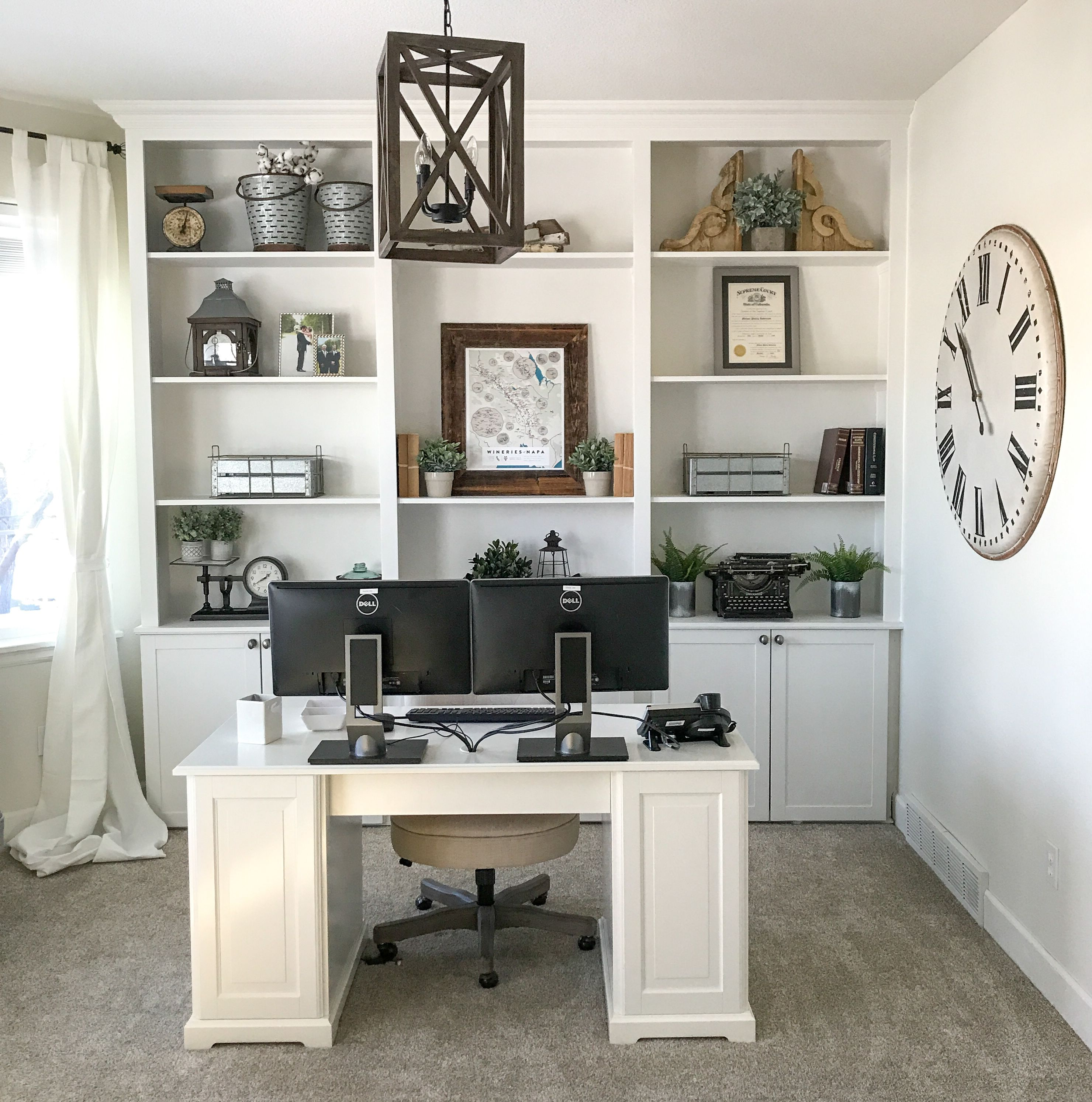 Home Office Decor: Today I Am So Excited To Share Our Office In The Farmhouse
