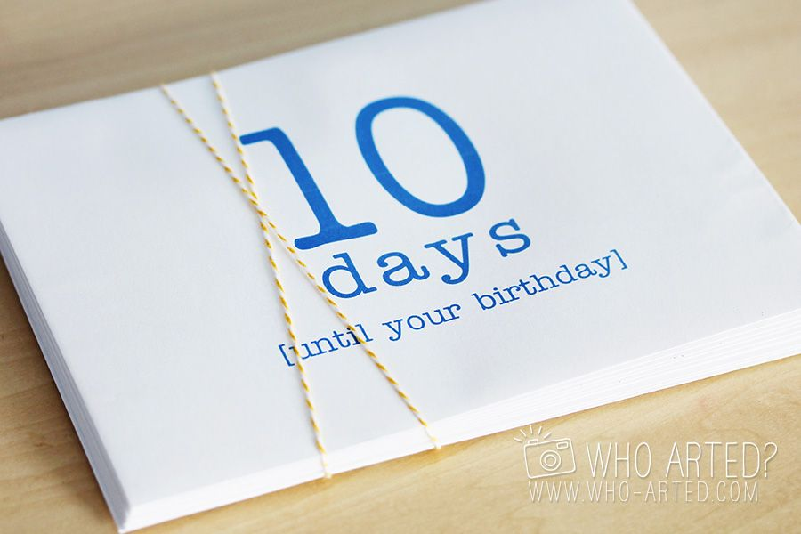 Birthday Countdown Envelopes