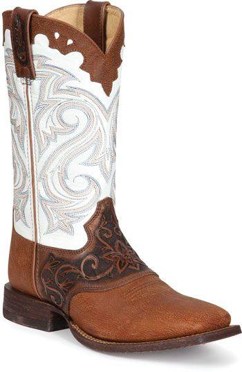 17b44878ed4 Rocky Ladies Handhewn Western Boot - White | Boot barn spring style ...