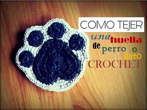 Amigurumi Gato Paso A Paso : Como tejer una huella de perro o gato a crochet diestro youtube