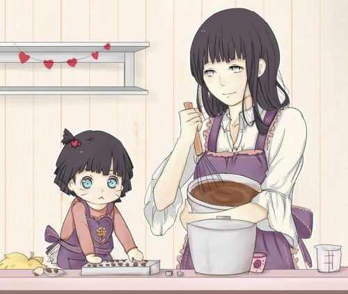 Mother daughter cooking session