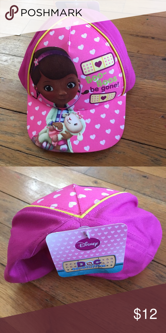 Girls doc mcstuffins pink baseball cap- new Toddler size pink cap.. brand  new 20526edd6791