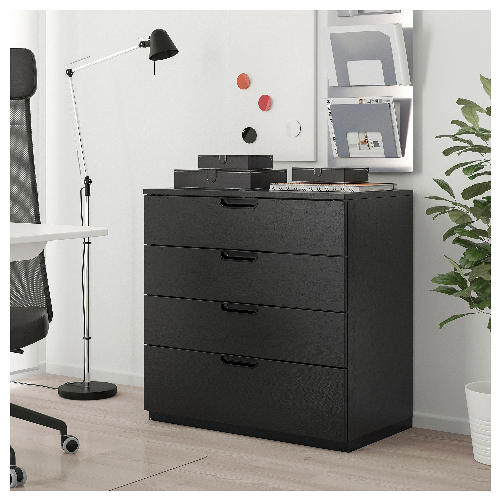 Galant Drawer Unit Black Stained Ash Veneer Ikea In 2020 Drawer Unit Ikea Galant Ikea