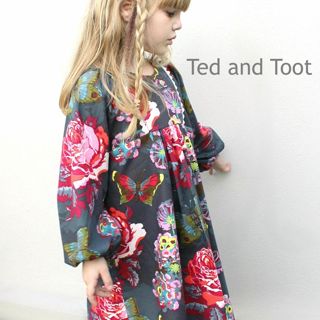 Poppy Tunic Dress PDF Sewing Pattern - Long sleeve winter girls ...