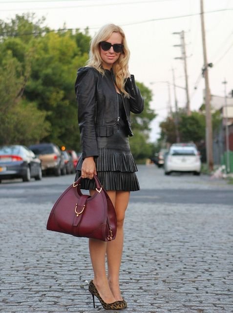 all leather and gucci bag...IMG_6984 by BrooklynBlonde1, via Flickr