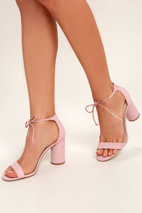 Getting party perfect starts with the Steve Madden Shays Pink Nubuck  Leather Lace-Up Heels