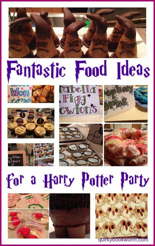 Fantastic Food Ideas for a Harry Potter Party: Including a Strawberry Shortcake Basilisk, Siriusly Black Pasta, Golden Snitch Cake Balls, Monster Book of Monster Sandwiches, Chocolate Sorting Hats, Won Won Won-tons, and more! #harrypotter