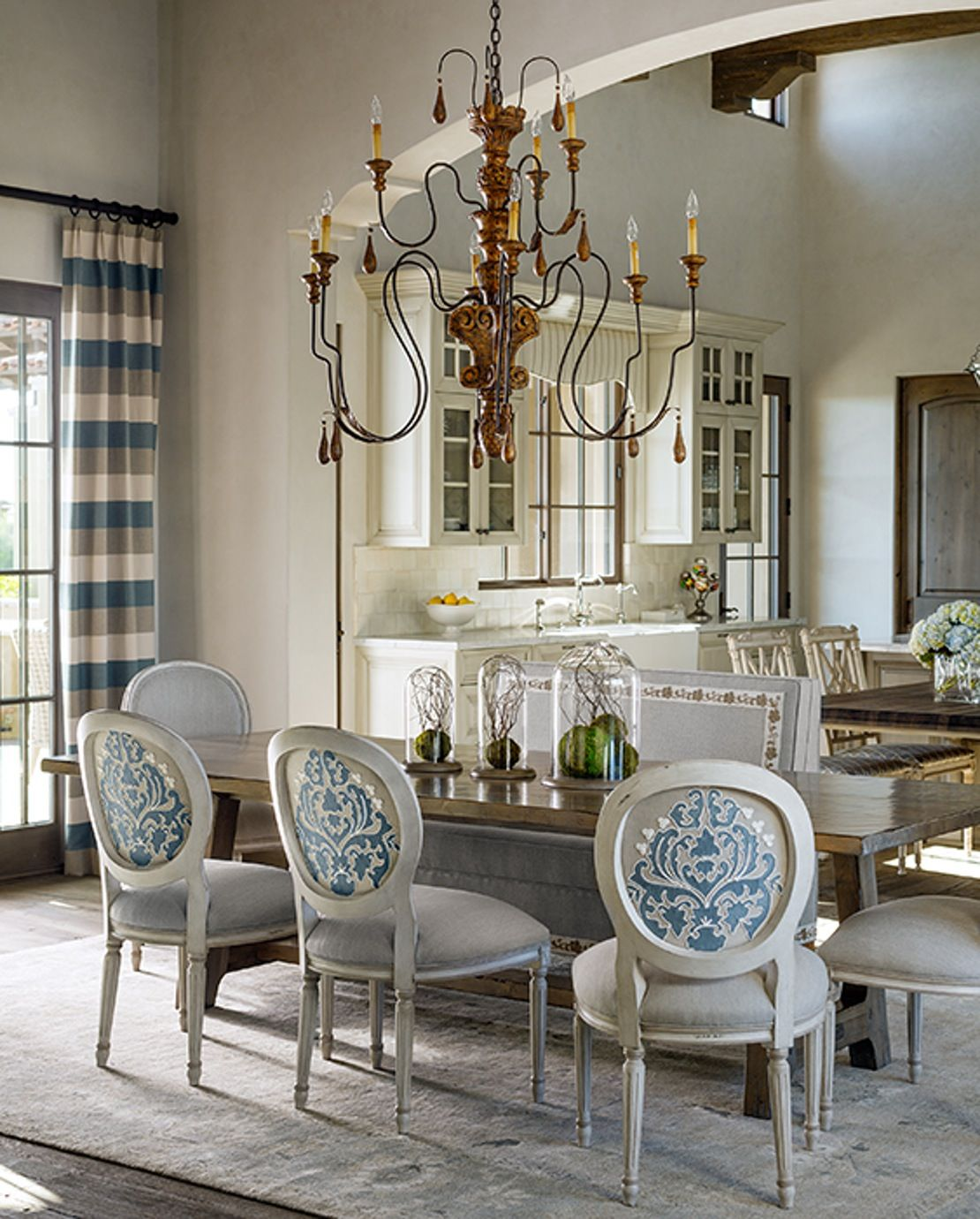 Refined Desert Haven Dining Room   by Kim Scodro Interiors