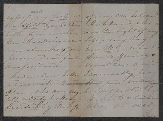 Letter Of Condolence From Queen Victoria To Mary Todd Lincoln