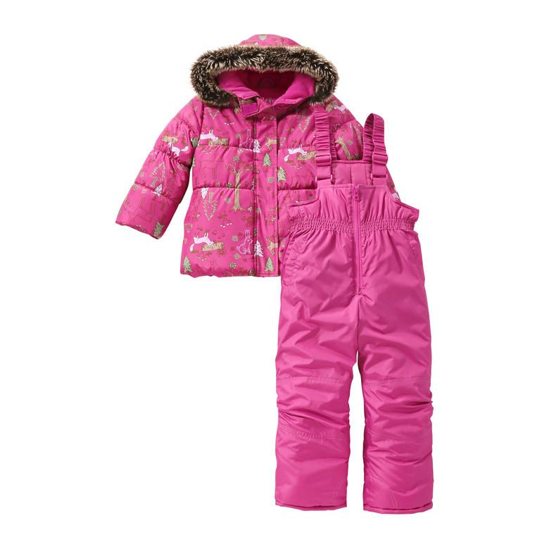 784e9eb4f6b Toddler Girls' Print 2 Piece Snow Suit from Joe Fresh. Bundle up in cold