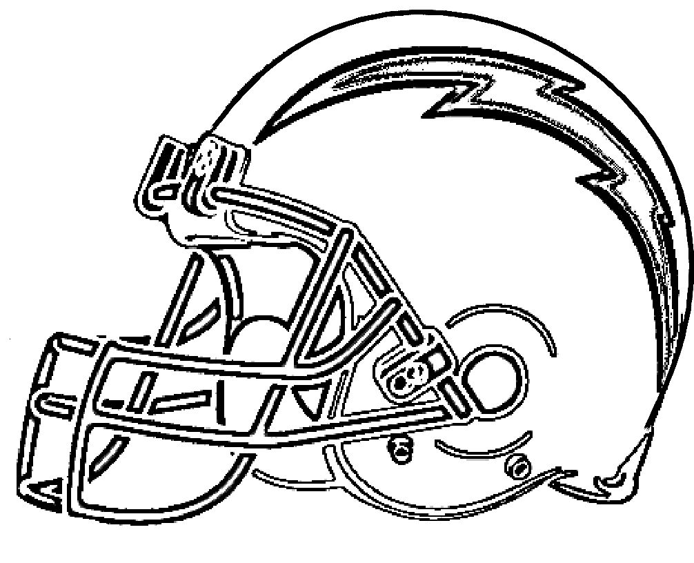 Football San Diego Chargers Coloring Pages For Kids Pdf
