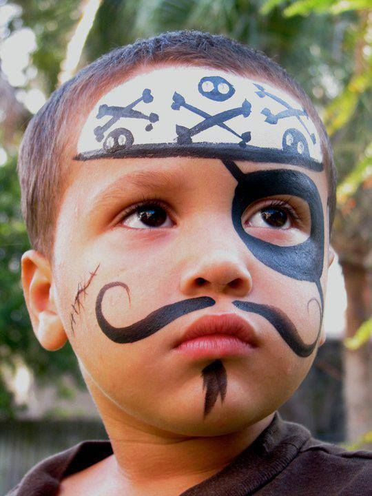 pirate face paint halloween pinterest fasching. Black Bedroom Furniture Sets. Home Design Ideas