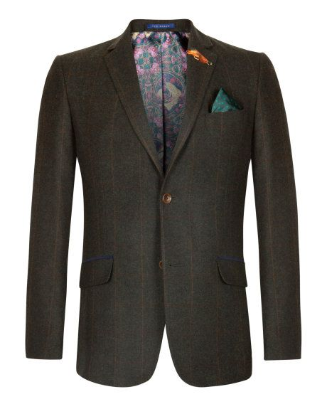 031380368a BROMAN | Check wool blazer - Green | New Arrivals | Ted Baker | TED ...
