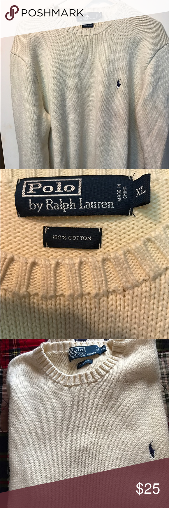 Polo By Ralph Lauren 100% Heavy Cotton Sweater Polo By Ralph ...