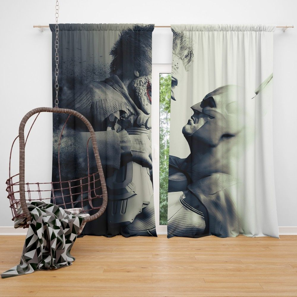Batman Vs Joker Arkham City The Dark Knight Crazyness Curtain